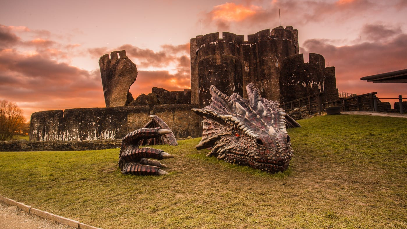 Dragons Caerphilly Castle