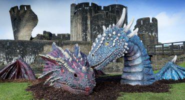 Dewi and Dwynwen Castle Dragons