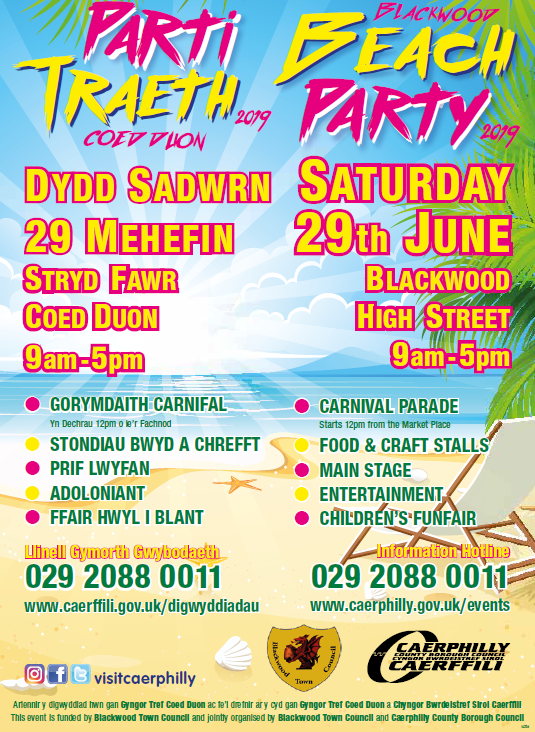 Blackwood Beach Party Poster