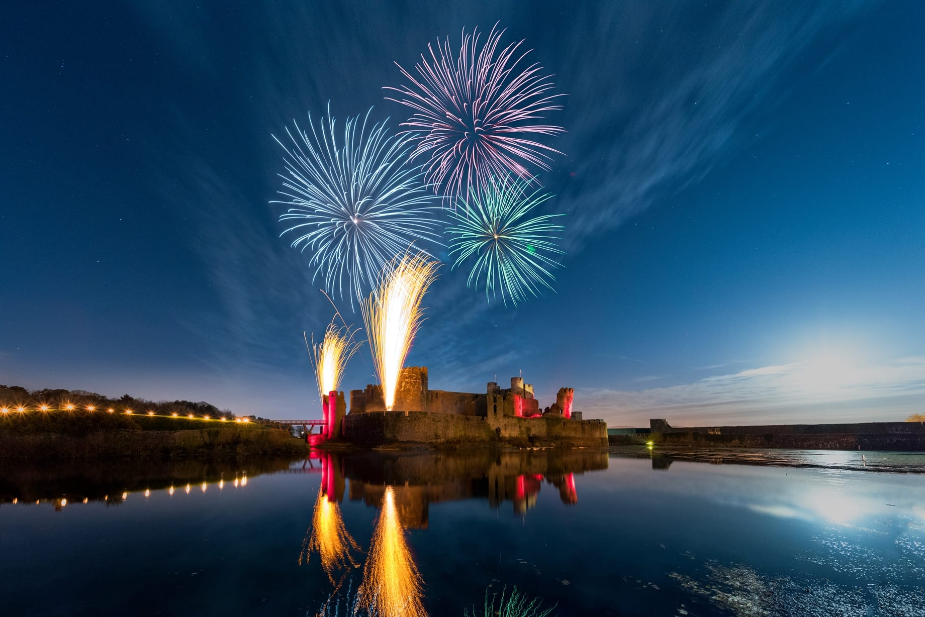 Caerphilly Castle Fireworks